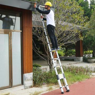 AluminIum single adjustable telescopic  ladder
