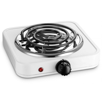 Black Single Electric Burner