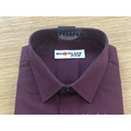 Men's cvc stand-up collar print short sleeve shirt
