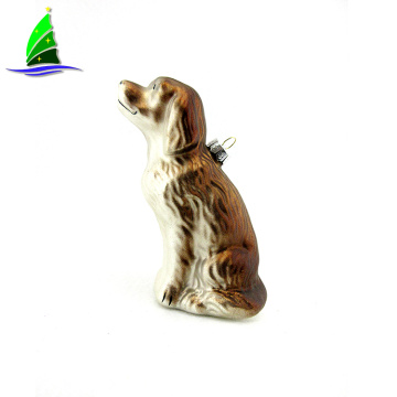 Glass Hanging Golden Retriever Ornament
