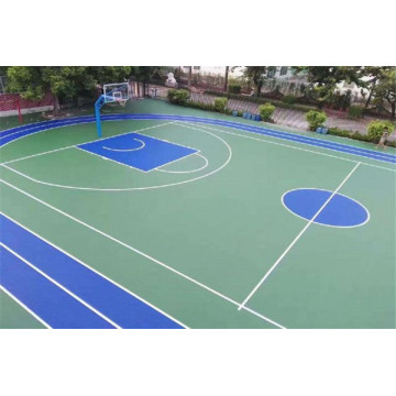 Silicon PU Material Made Basketball Court Flooring
