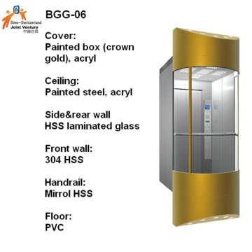 Sightseeing Passenger Elevator with Glass Cabin