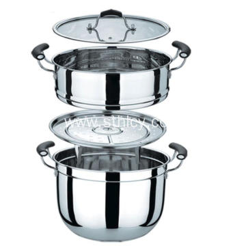 2 Layers Stainless Steel Food Steamer Pot