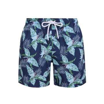 Blue Custom Sublimation Swim Trunks Male Beach Shorts