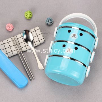 Colorful Multilayer Stainless Steel Food Container Set