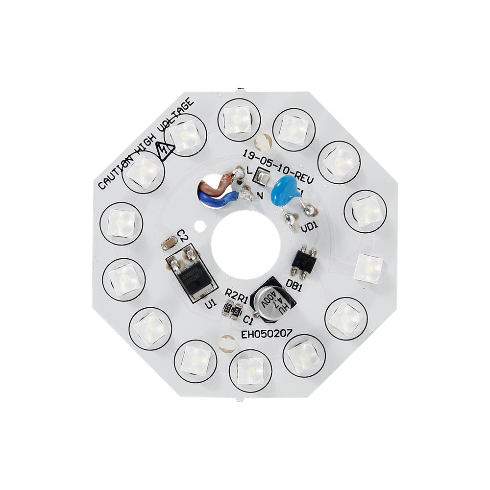 Front view of Lens AC linear white light 8W ceiling module
