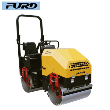 1.7ton Weight Full Hydraulic Two Drums Road Roller for Gravel Compaction