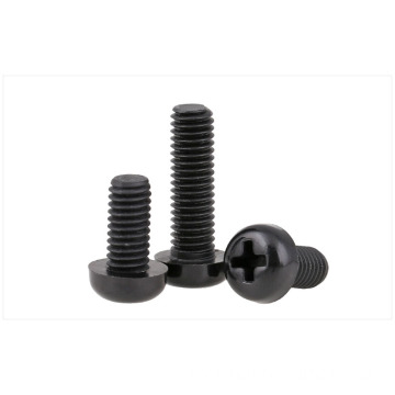 M3 nylon screws round head screws black