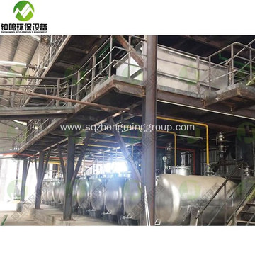 Waste Black Engine Oil Recycling to Diesel Equipment