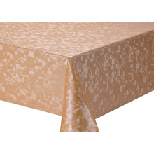 Solid Embossed Fabric Elegant Oval Tablecloth