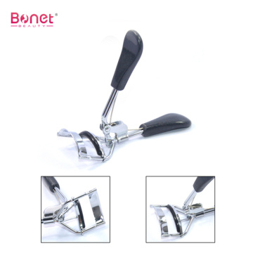 Electroplating Metal Plastic Handle Eyelash Curler
