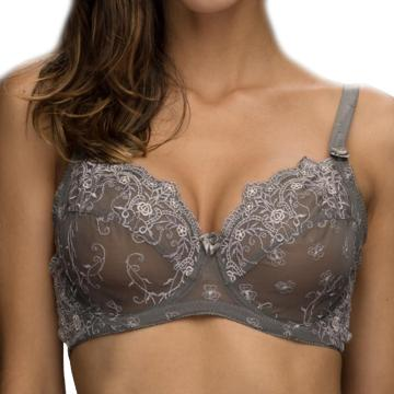 custom embroidery full cover bra J Cup