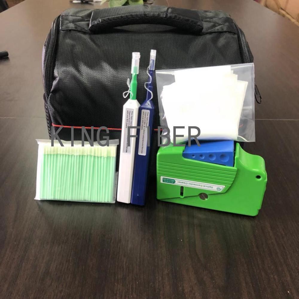 Fiber Cleaning Kit/Fiber Optic FTTH Tool Kit FTTX Network Testing Tool with Fiber Inspection Microscope etc Fiber cleaning tools