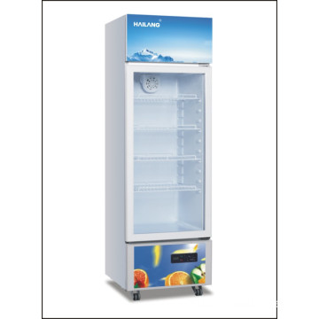 Upright Glass Door Fridge Freezer