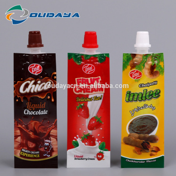 Package 8.2mm Spout Liquid Chocolate Packaging Pouch