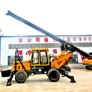 15M Depth Small Tractor Stone Drilling Rig Machine