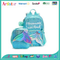 Mermaid blue sequins backpack
