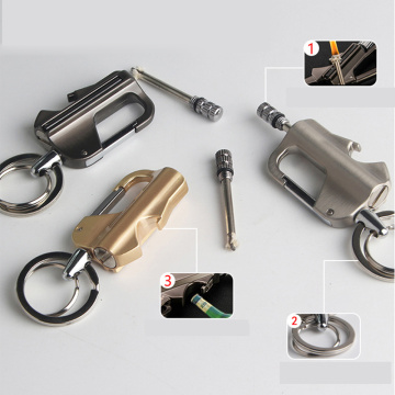 Multi-Function Key Buckle Cigar Cigarette Lighters Smoking Accessories Metal Flint Match Outdoor Products Lighter Gasoline