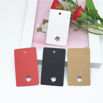 earring card paper hang tag paper card printing