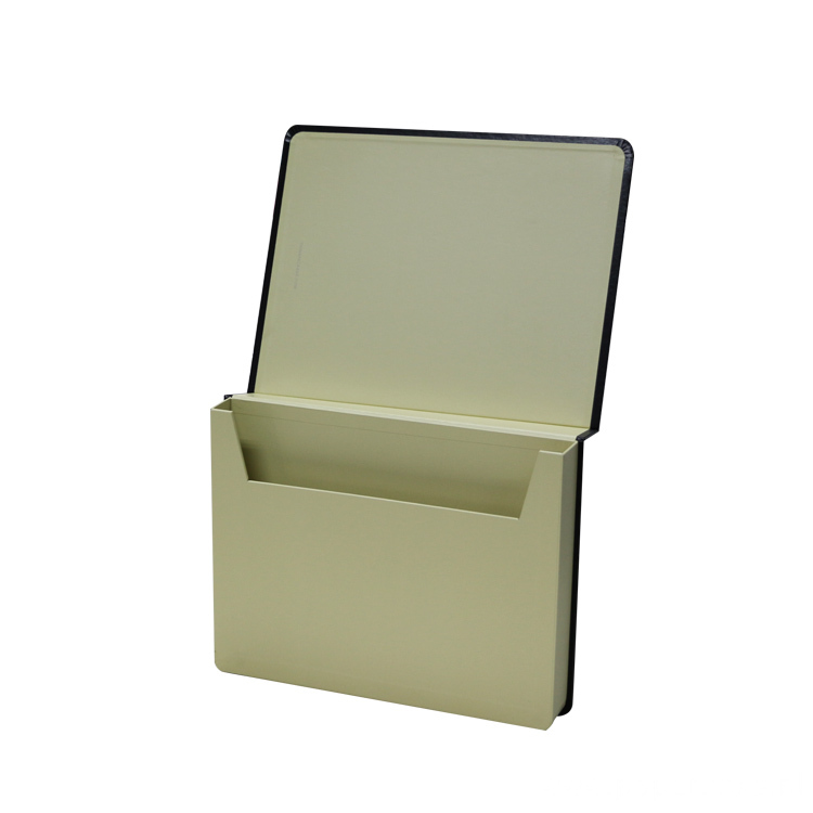 Book-shape Paper File Holder With Elastic Handle