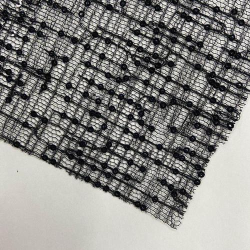 Fancy Irregular Design With Lurex Sequins Embroidery Fabric