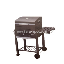 Charcoal BBQ Grill With Side Table