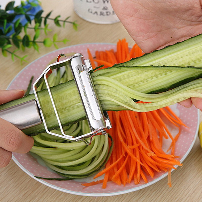 Stainless Steel Peeler Vegetable Cucumber Carrot Fruit Potato Double Planing Grater Planing Kitchen Accessories kitchen gadget B