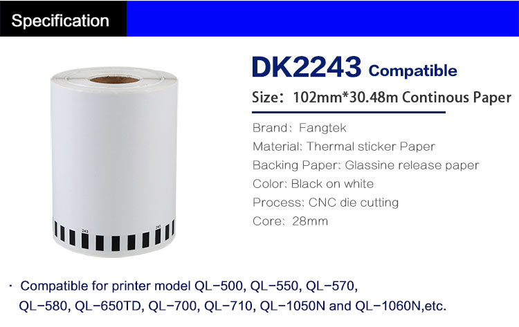 DK2243 brother compatible labels