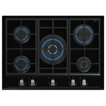 Teak Gas Cooktops Black Glass
