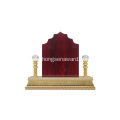 stock middle east country  wooden trophy