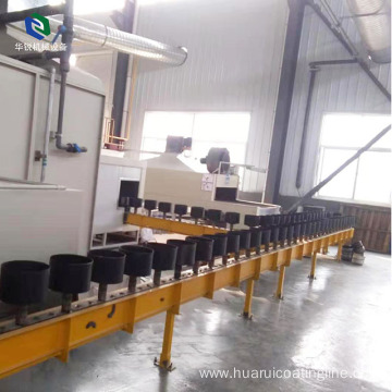 Hot Selling Automatic Electrostatic Cookware Coating Line For Industry