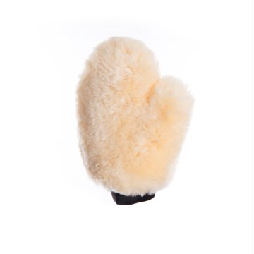 Full Sheepskin Horse Wash Mitt with Finger