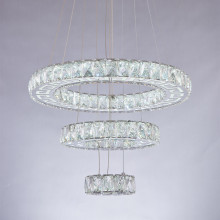 led crystal ring pendant light