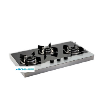 Glen 3 Burners Hob With S.S Frame