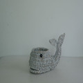 grey sea grass weaving whale decoration basket