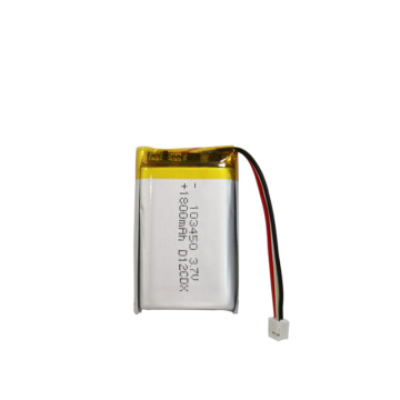 Customizable 3.7V Lithium Polymer Battery 1800Mah 103450