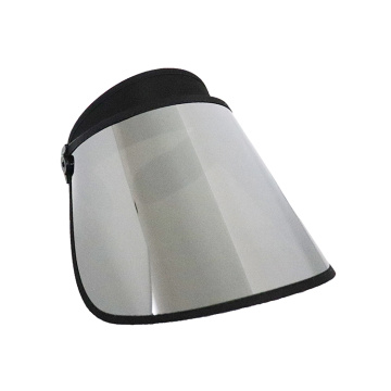 Long silver color sun visor cap shield