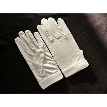 White Cotton Sure Grip Gloves