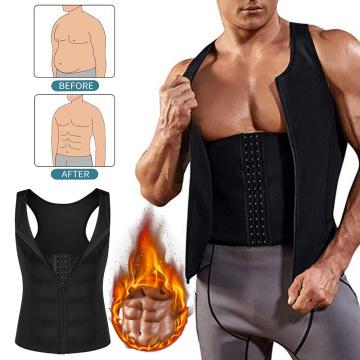 Men Compression Shirt Weight Loss Workout Undershirts Slimming Vest Body Shaper Waist Trainer Tank Tops Shapewear Sauna Suit