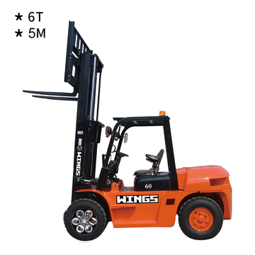 6 Tons Diesel Forklift (5-meter Lifting Height)