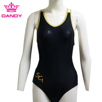 Cheap black sleeveless leotards