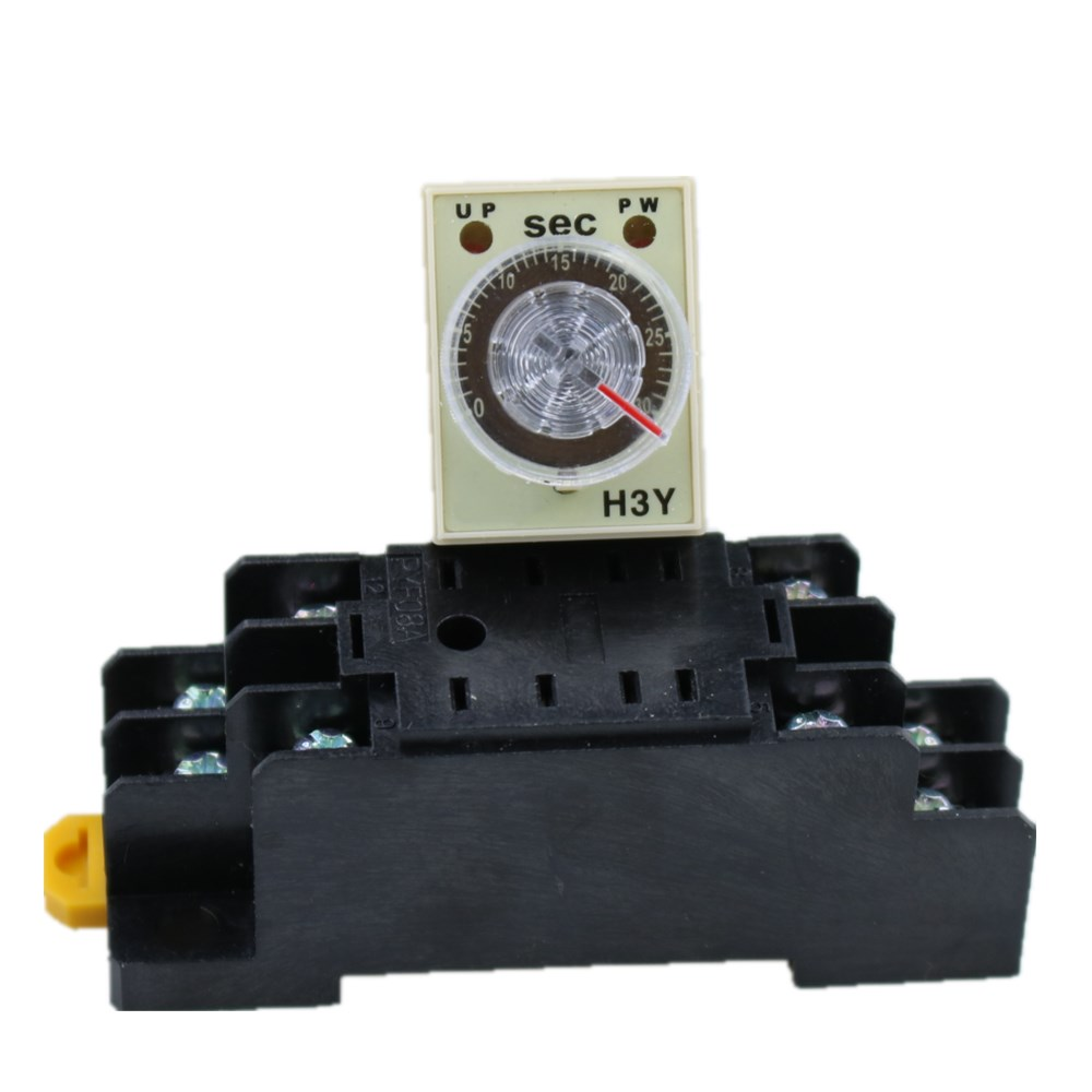 1SET H3Y-2 24V Small time relay 0-30S ST6P electronic relay power on time delay