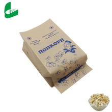 Brown kraft greaseproof paper bag for microwave popcorn