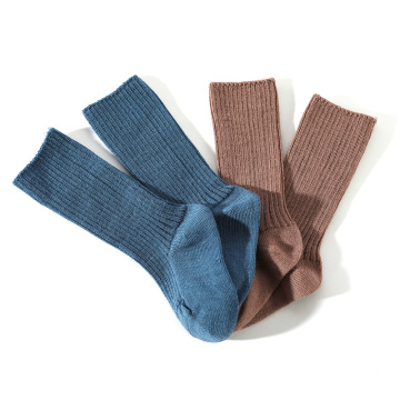 Organic wool kids socks rib