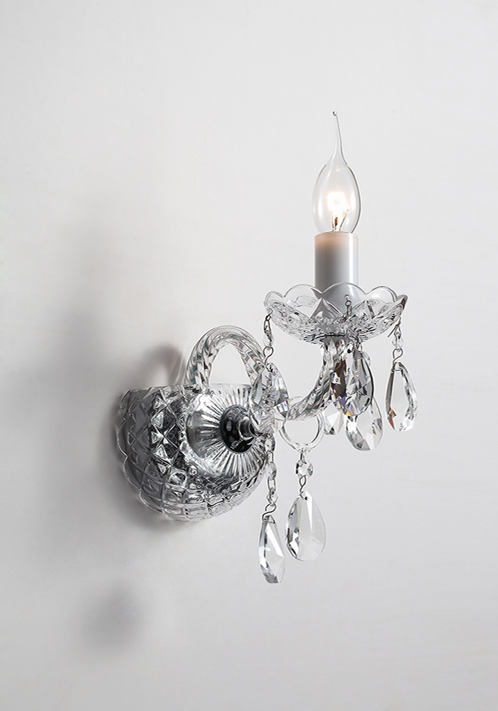 crystal f wall light