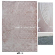 Embossing mink carpet with novel design