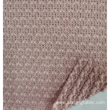 coarser knit looped fabric