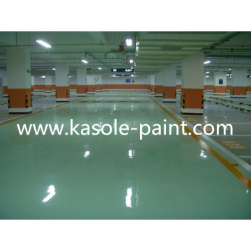 Waterborne epoxy resin floor