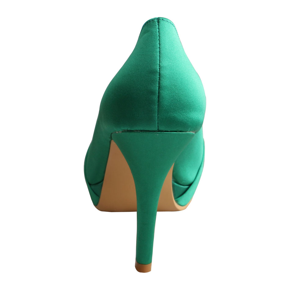 Green Wedding Pumps