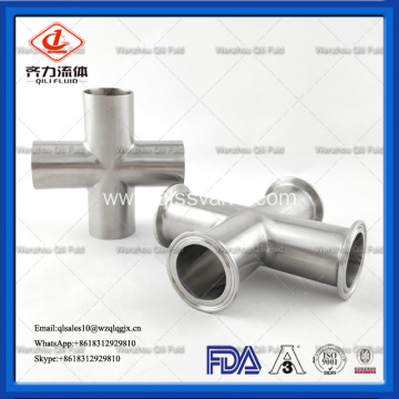 Sanitary Pass Connection 3A Clamp Equal Long Cross